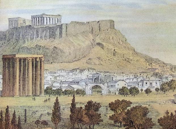 Die_Ruinen_von_Athen
