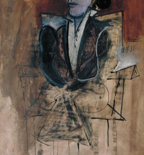 Dora Maar Seated 1938 Pablo Picasso 1881-1973 Purchased 1960 http://www.tate.org.uk/art/work/T00341