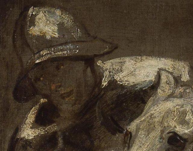 detail a solidier on horseback