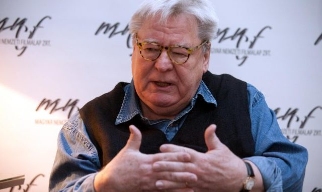 British film director, screenwriter, and producer Alan Parker speaks during an interview at a screen writing workshop in Budapest, Hungary, Saturday, March 2, 2013. (AP Photo/MTI, Bea Kallos)