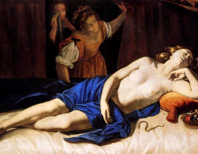 Artemisia Gentileschi / Артемизия Джентилески (1593-1653) - Cleopatra / Клеопатра (около 1633-1635)